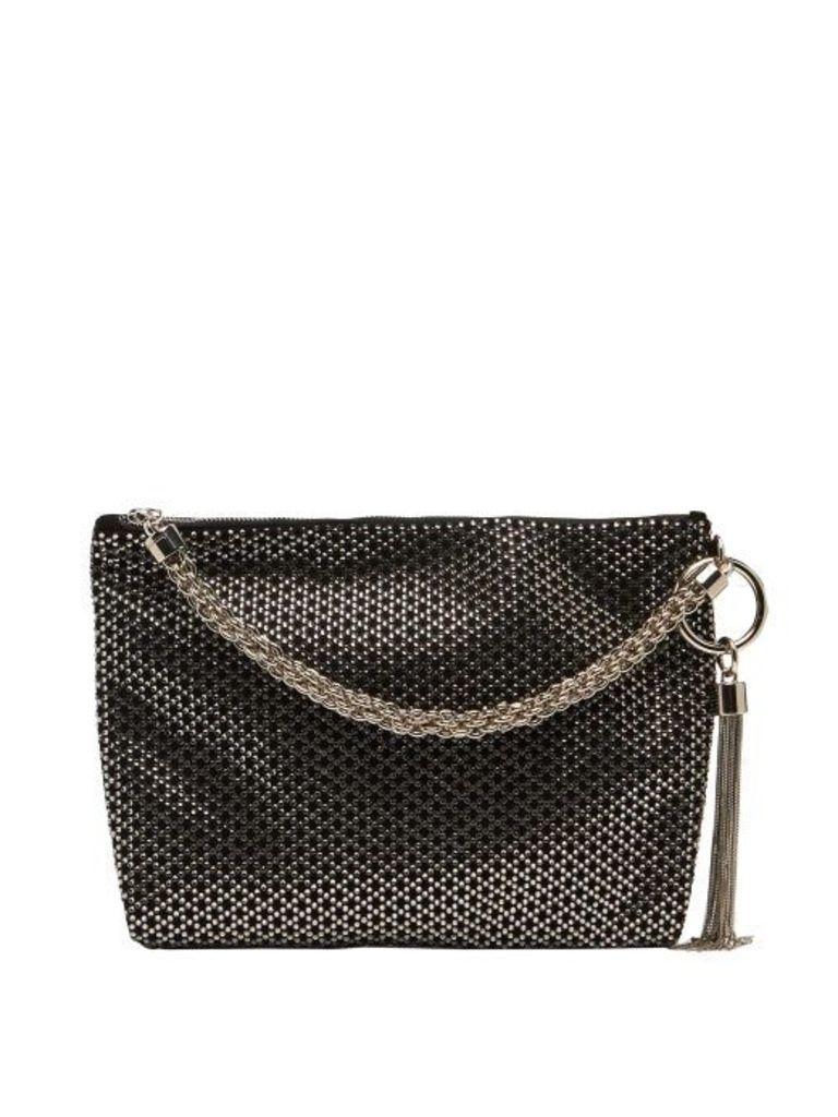 Jimmy Choo - Callie Black Crystal Embellished Bag - Womens - Black Multi
