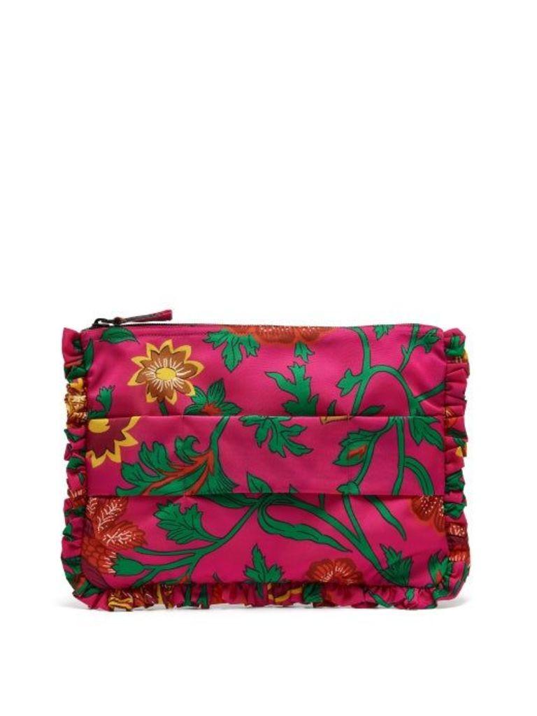 La Doublej - Dragon Flower Printed Clutch - Womens - Pink Multi