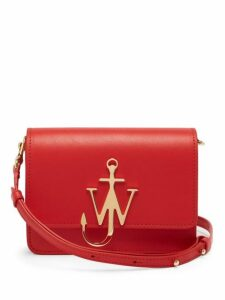 Jw Anderson - Mini Logo Leather Bag - Womens - Red