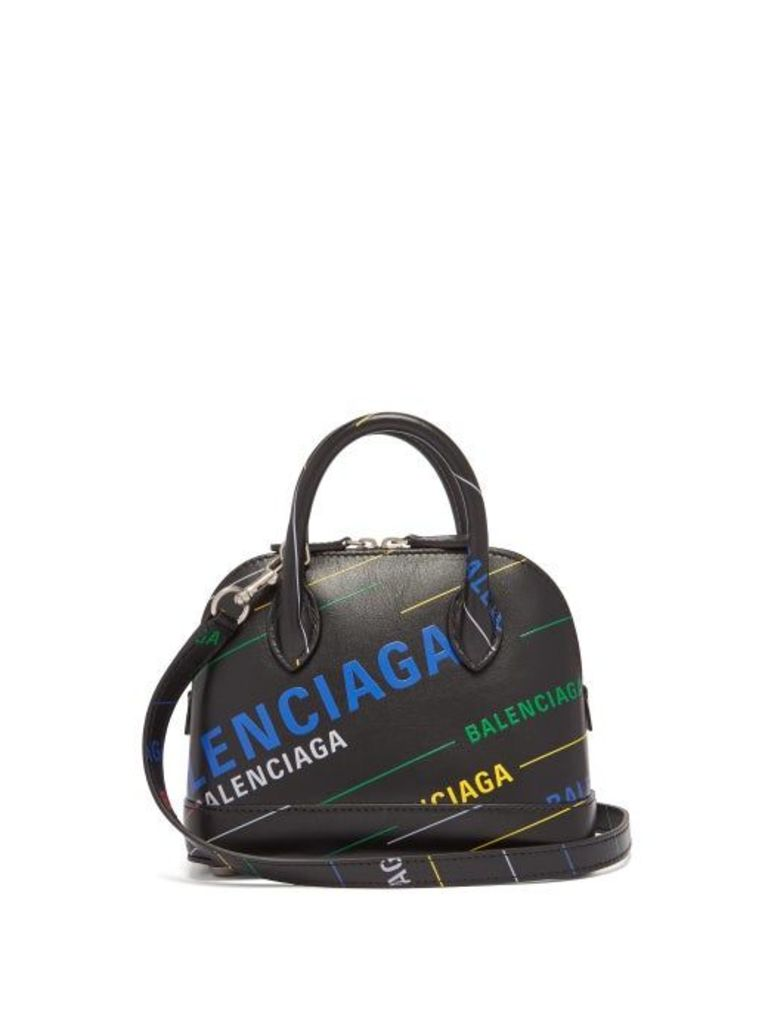 Balenciaga - Ville Xxs Printed Leather Bag - Womens - Black Multi
