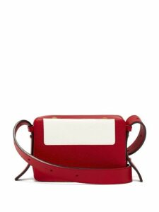Lutz Morris - Maya Intarsia Leather Cross Body Bag - Womens - Red White