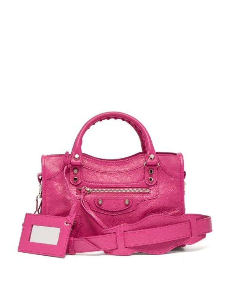 Balenciaga - Classic City Mini Leather Bag - Womens - Pink