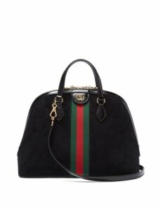 Gucci - Ophidia Suede Tote Bag - Womens - Black Multi
