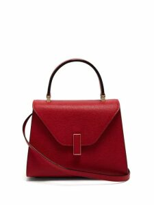 Valextra - Iside Mini Grained-leather Bag - Womens - Red