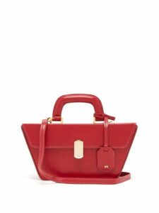 Hillier Bartley - Cassette Grained-leather Bag - Womens - Red