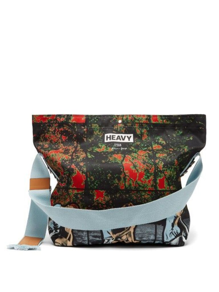 Jw Anderson - X Gilbert And George Print Canvas Bag - Womens - Multi