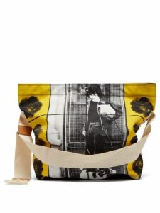 Jw Anderson - X Gilbert & George Print Canvas Bag - Womens - Black Yellow