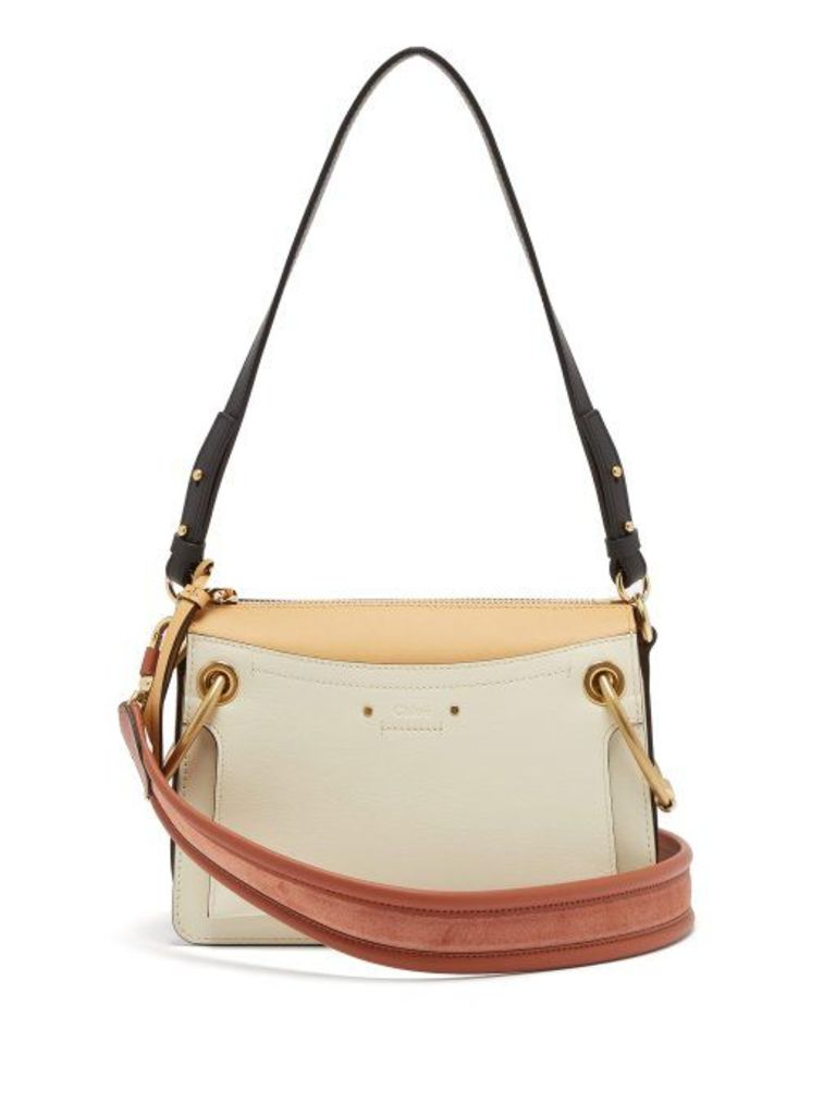 Chloé - Roy Small Leather Shoulder Bag - Womens - White Multi