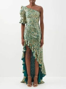 Lisa Marie Fernandez - Cropped Metallic Cardigan - Womens - Bronze