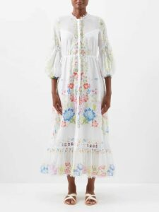 Albus Lumen - Chico Slubbed Cotton Top - Womens - Light Blue