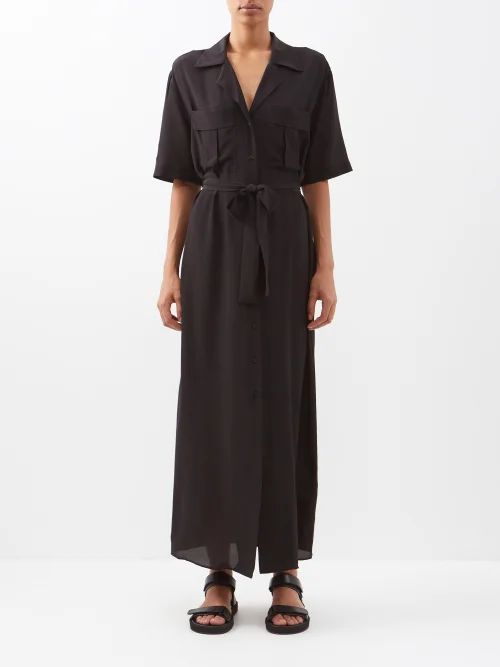Three Graces London - Serena Cotton Wrap Top - Womens - Green