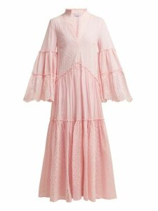 My Beachy Side - Chelsea Tiered Cotton Maxi Dress - Womens - Light Pink