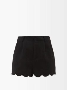 Camilla - Playing Koi Print Silk Wrap Dress - Womens - Blue Print