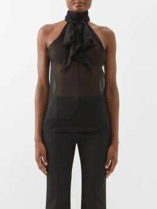 La Doublej - Cotton Maxi Shirtdress - Womens - Blue