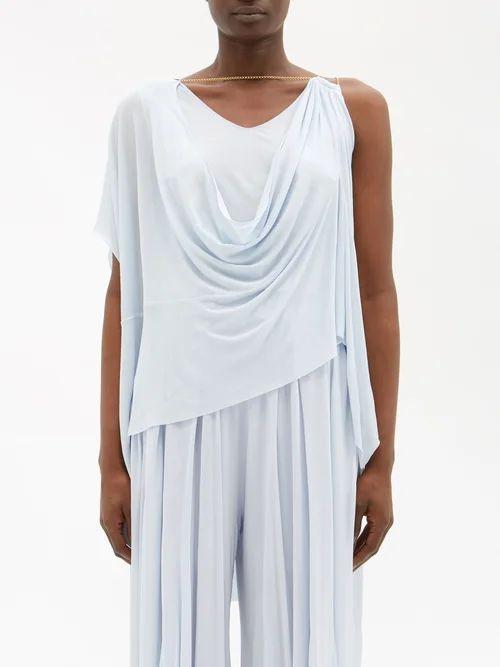 Three Graces London - Gwendoline Gathered Silk Maxi Dress - Womens - Light Brown