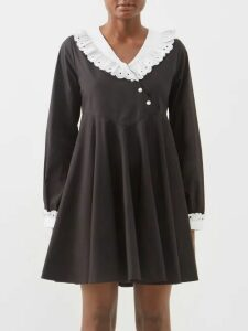 Adriana Degreas - Porto Striped Linen Blend Maxi Dress - Womens - Pink Stripe