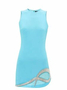 La Doublej - Happy Wrist Lungo Confetti Blu Print Silk Dress - Womens - Blue Print