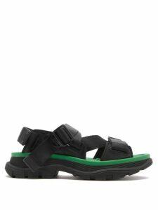 Juliet Dunn - Gold Leaf Print Ruffled Wrap Dress - Womens - White Gold