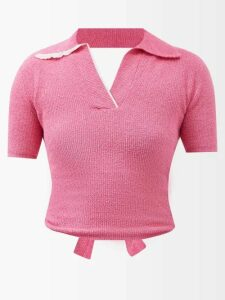 Anaak - Gingham Patterned Cotton Dress - Womens - White Black