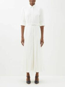 Loup Charmant - Carino Tiered Silk Midi Dress - Womens - Dark Green