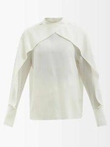 Lisa Marie Fernandez - Rosetta V Neck Linen Midi Dress - Womens - Khaki