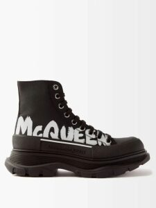 Asceno - Striped Neck Tie Tiered Silk Midi Dress - Womens - Khaki Stripe