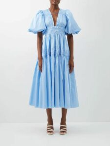Bower - Bianca Wrap Sun Dress - Womens - Blue