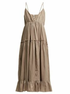 Loup Charmant - Carino Silk Midi Dress - Womens - Beige