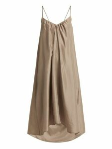 Loup Charmant - Cross Over Back Silk Dress - Womens - Beige