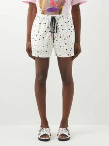 Zimmermann - Bowie Belted Floral Print Mini Dress - Womens - Cream Print