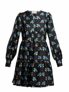 La Doublej - Peasant Mini Dress - Womens - Black Print