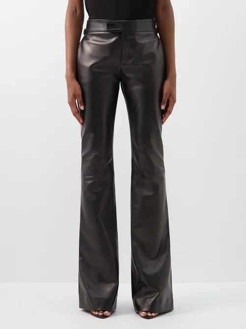 Albus Lumen - Fluir Silk Satin Midi Skirt - Womens - Dark Green