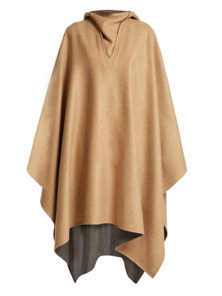 Givenchy - Reversible Cashmere Cape - Womens - Camel