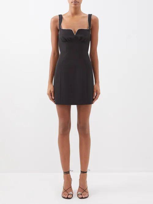 Toga - Fringed Cotton Blend Western Shirt - Womens - Blue