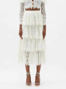 Pallas X Claire Thomson-jonville - Emilie Pinstriped Crepe Shirt - Womens - Blue