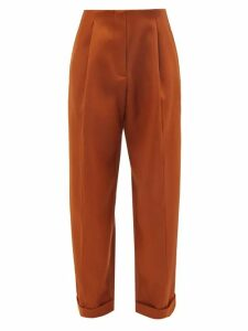 Giambattista Valli - Gathered Silk Chiffon Mini Dress - Womens - Pink