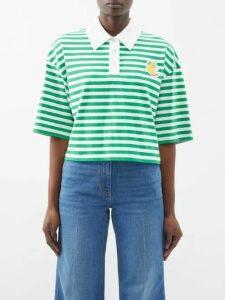 Giambattista Valli - Floral Print Silk Chiffon Mini Dress - Womens - Black Multi