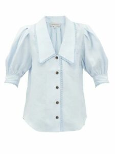 Alexander Mcqueen - Sarabande Lace And Wool Blend Mini Dress - Womens - Black