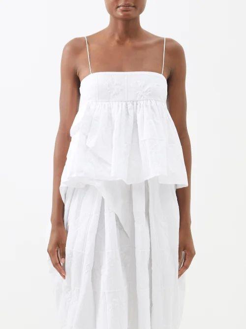 Romance Was Born - Chrysalis Asymmetric Tiered Tulle Dress - Womens - Pink
