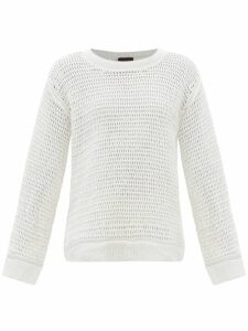 Stella Mccartney - Oversized Checked Wool Blend Coat - Womens - Grey Multi