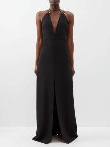 Stella Mccartney - Oversized Checked Wool Blend Coat - Womens - Grey Multi