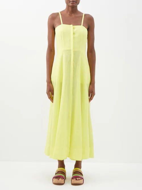 Msgm - Fruit Print Cotton Blouse - Womens - Black Multi