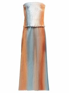 Carl Kapp - Prism Pleated Lamé Gown - Womens - Silver Multi