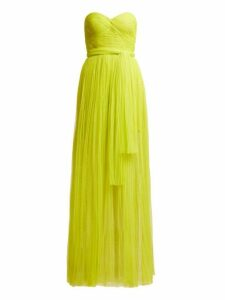 Maria Lucia Hohan - Tiara Pleated Bustier Dress - Womens - Green
