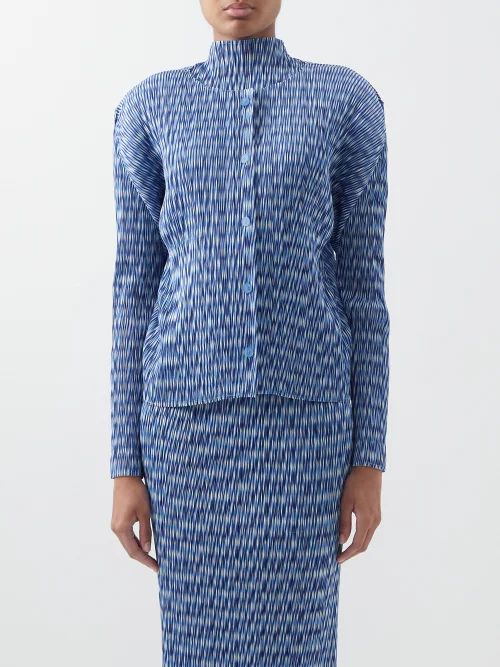 Mm6 Maison Margiela - Single Breasted Leather Blazer - Womens - Black