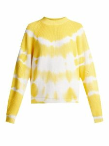 Msgm - Bleached Cotton Sweater - Womens - Yellow