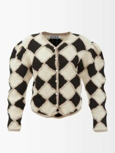 Gucci - Gg Jacquard Wool Sweater - Womens - Black Multi