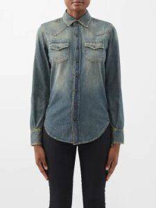 Msgm - Knit Midi Dress - Womens - Red Multi