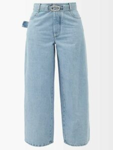 Mm6 Maison Margiela - Checked Print Midi Dress - Womens - Grey Multi
