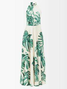 Lee Mathews - Eloise Panelled Floral Print Silk Dress - Womens - Multi